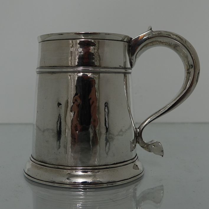 Queen Anne 18th Century Antique Silver Mug London 1709