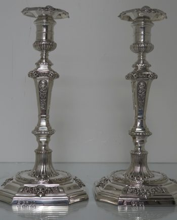 pair silver candle sticks