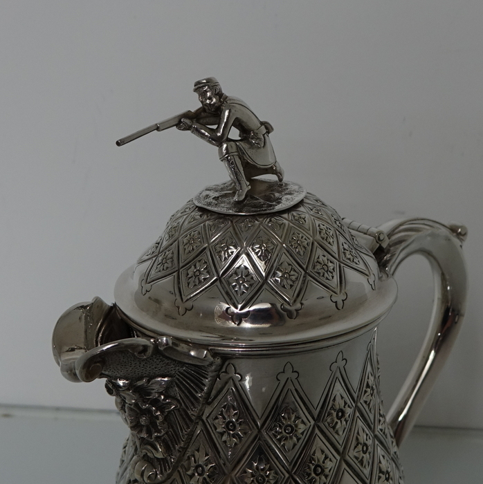 19th Century Antique Silver-Plated Victorian Flagon Circa 1865 (unmarked) & 19th Century Antique Silver-Plated Victorian Flagon Circa 1865 ...