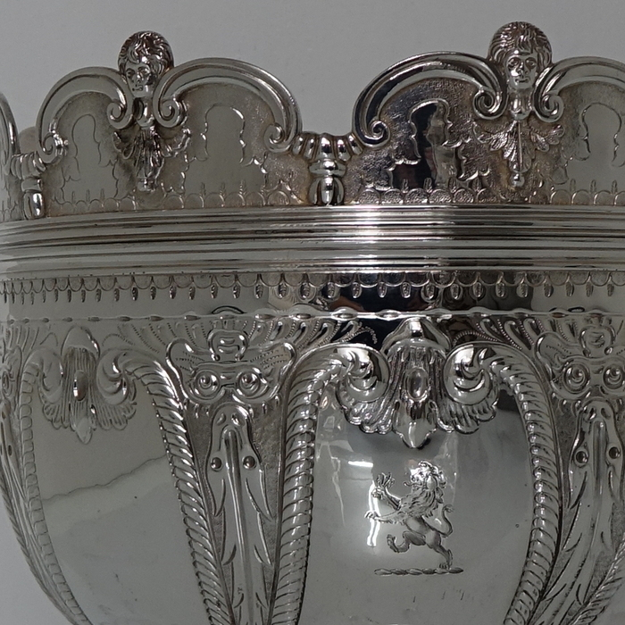 Large 19th Century Antique Britannia Silver Victorian
