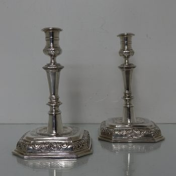 German silver candlesicks