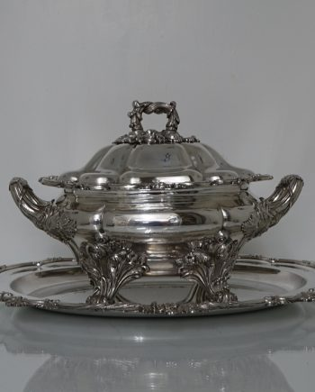 soup tureen on stand