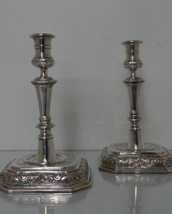 German silver candlesicks