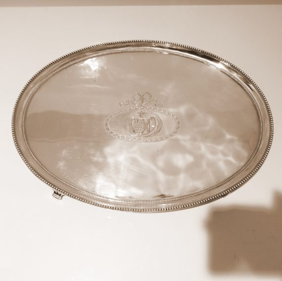 large oval salver